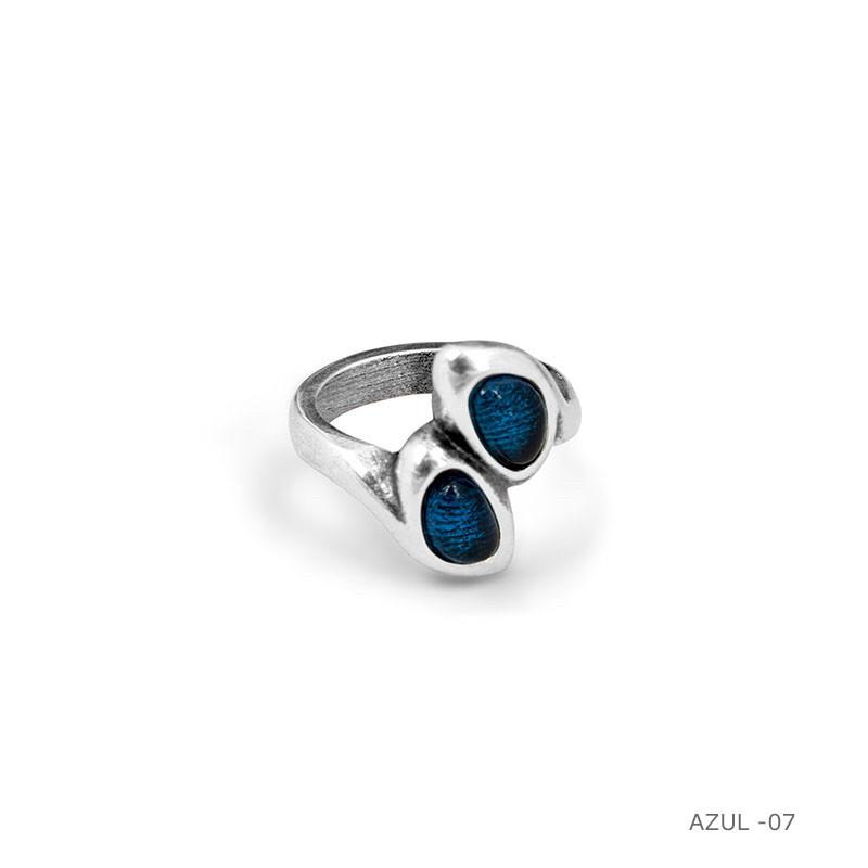 Кольцо /Botanic ( 192511 - синий)размер 17