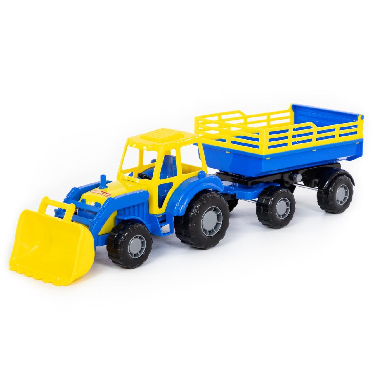 """""""Мастер"""", трактор с прицепом №2 и ковшом"""