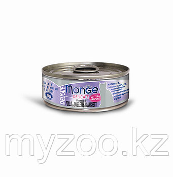Monge Cat Delicate, Монже Деликэйт, 80 гр Кусочки для кошек с курицей, омлетом и снетками