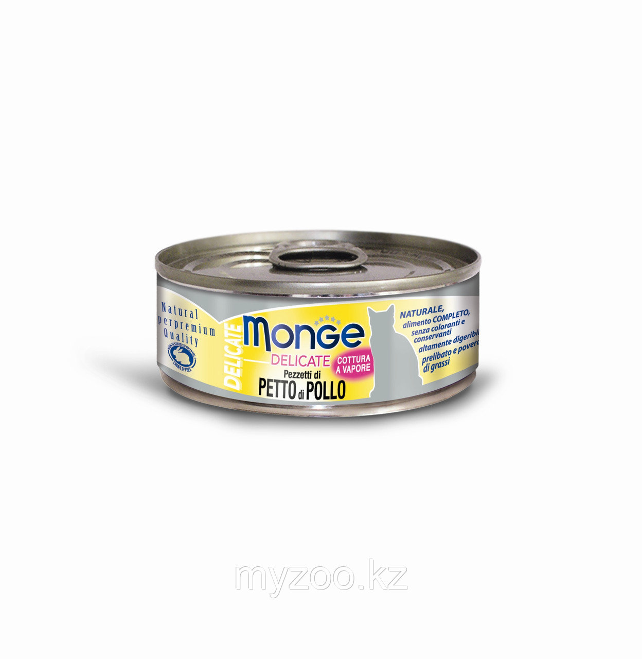Monge Cat Delicate, Монже Деликэйт, 80 гр Кусочки для кошек с курицей