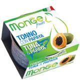 MONGE Frut Cat cans 80 гр Кусочки для кошек тунец с папайей