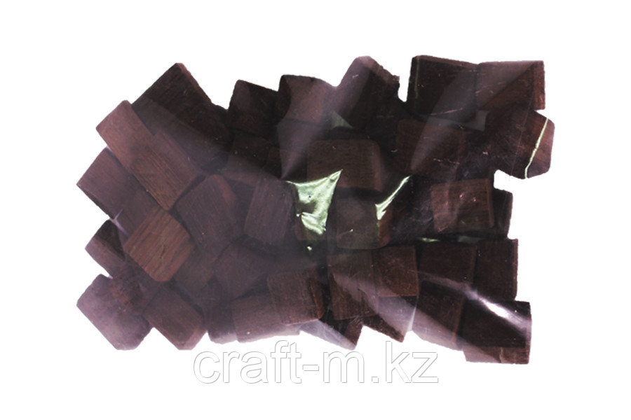 Кубики дубовые, сильный обжиг, 250 грамм