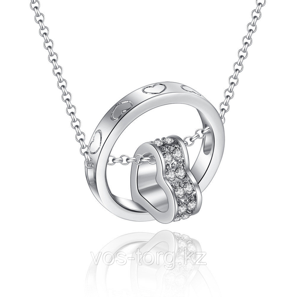 "Кулон на цепочке ""Ring Heart silver"""