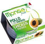 MONGE Frut Cat cans 80 гр   Кусочки для кошек курица с папайей