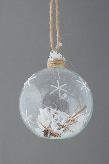 """Новогодняя елочная игрушка шар """"Метель"""""""