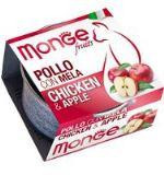 MONGE Frut Cat cans 80 гр   Кусочки для кошек курица с яблоком