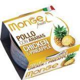 MONGE Frut Cat cans 80 гр  Кусочки для кошек курица с фруктами