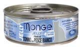 MONGE Jelly Cat cans 80 гр  Кусочки для кошек в желе желтоперый тунец с морским карасемми