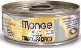 MONGE Jelly Cat cans 80 гр  Кусочки для кошек в желе желтоперый тунец