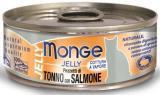 MONGE Jelly Cat cans 80 грКусочки для кошек в желе тунец с лососью