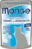 MONGE Natural Cat pouches 80 гр Кусочки для кошек в желе тунец с анчоусами