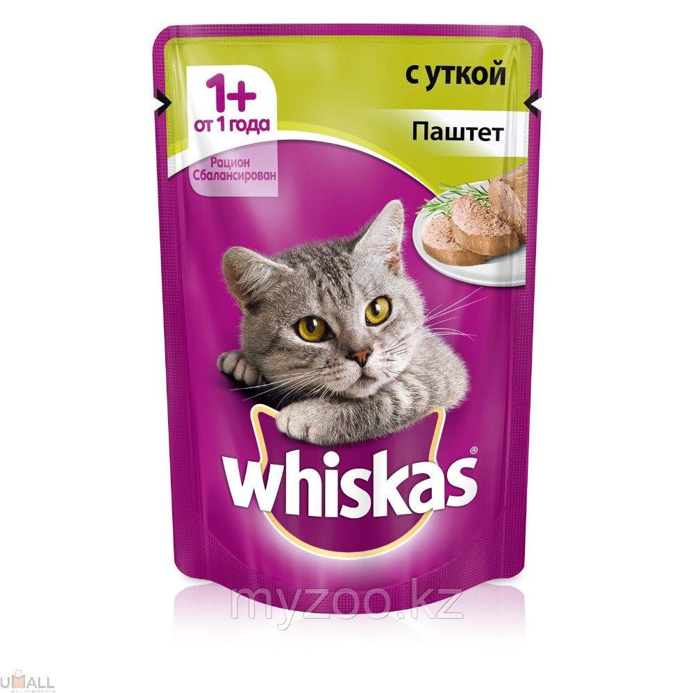 Вискас паштет с уткой 1*75 гр |Влажный корм Whiskas для кошек|