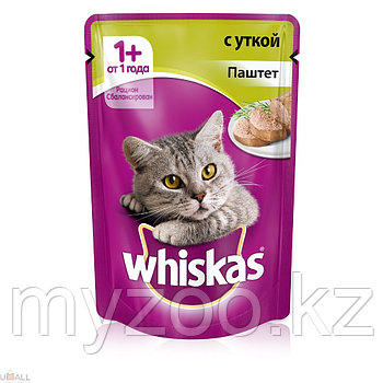 Вискас паштет с уткой 1*85 гр  Влажный корм Whiskas для кошек 