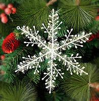 Снежинки пластиковая блестящая, фото 1