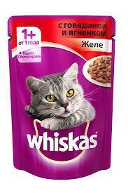 Вискас желе говядина, ягненок 1*85 гр   Влажный корм Whiskas для кошек 
