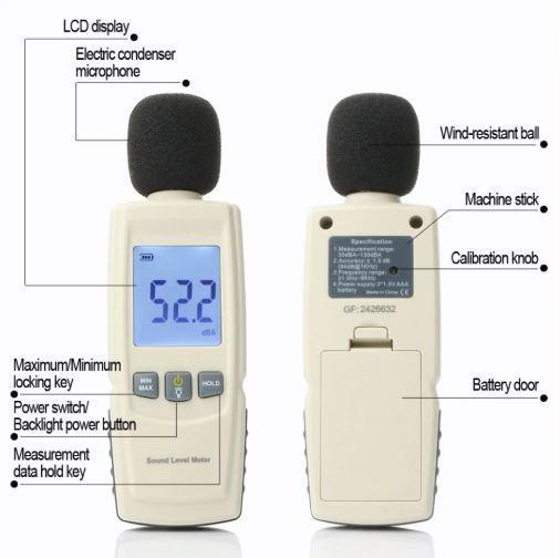 Шумомер (прибор для измерения уровня звука) - Шумомер GM1352