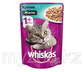 Вискас желе кролик 1*85 гр  Влажный корм для кошек Whiskas 