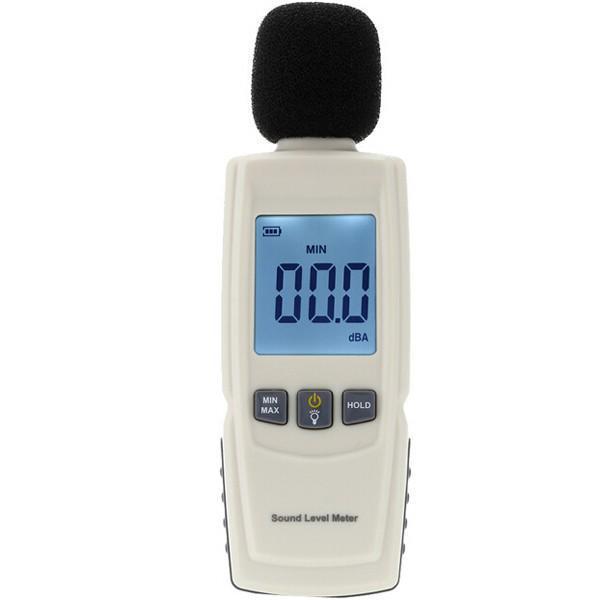 Шумомер - GM1352. (30 до 130 децибел). Карманный цифровой шумомер - фото 4