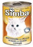 SIMBA CANS, Симба кусочки с курицей для кошек, банка 415гр.