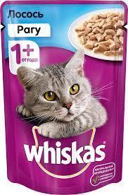 Вискас рагу лосось 1*85 гр  Влажный корм для кошек Whiskas 