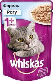 Вискас рагу форель 1*85 гр  Влажный корм для кошек Whiskas 