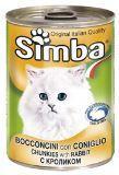 SIMBA CANS, Симба кусочки с кроликом для кошек, банка 415 гр.