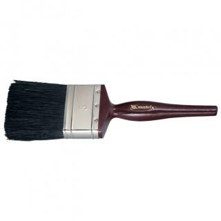 """Кисть плоская """"Декор"""" натуральная черная щетина, деревянная ручка 1"""" 25 мм/ MATRIX"""