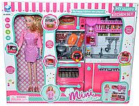 Немного помятая!!!! 66099 Кукла с кухней MINI KITCHEN 34*11см