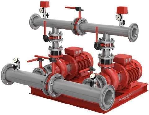Комплектные насосные установки для систем водяного пожаротушения Hydro MX 1/1 и Hydro MX 2/1 на  насос NB, фото 2