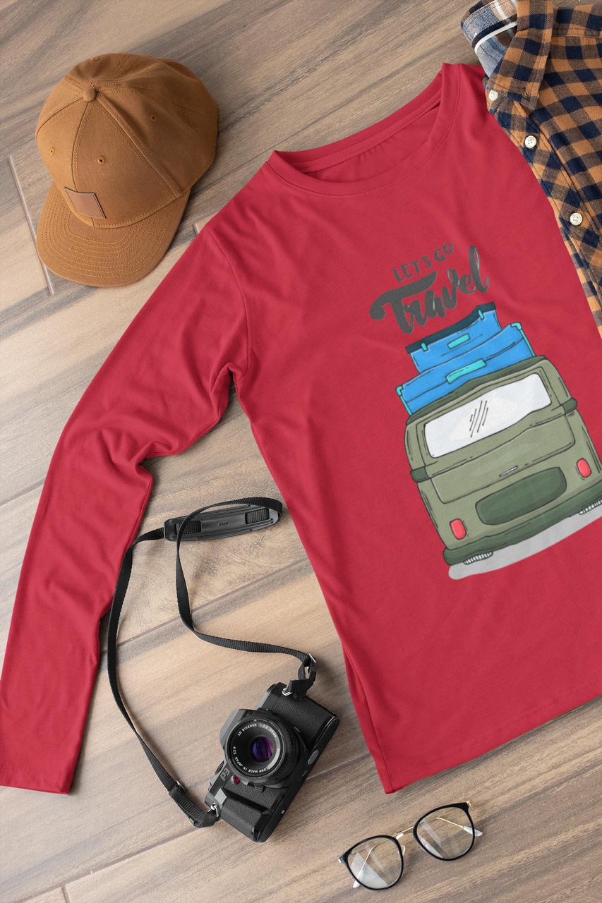 Лонгслив красный - Travel