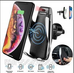 Беспроводная зарядка+держатель  для телефонов в автомобиле(Penguin Smart Sensor) S5