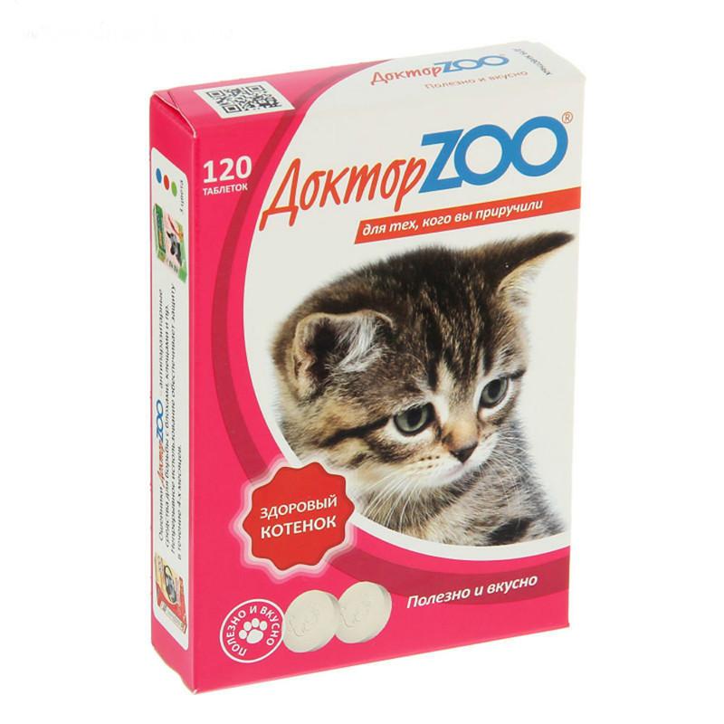 Витаминное лакомство для котят Доктор ZOO Здоровый Котенок
