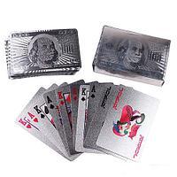 Карты для покера серебристые, игральные карты. 54 карт матовые., фото 1