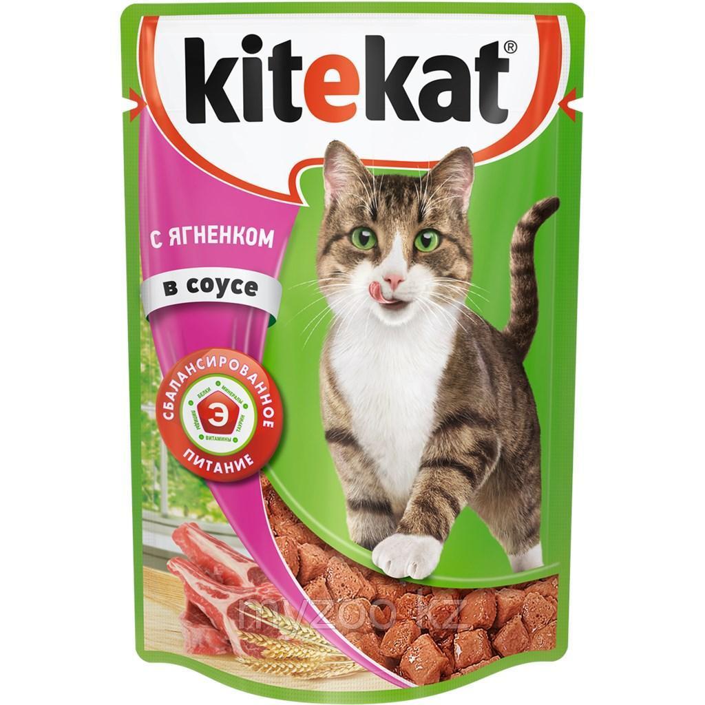 Влажный корм для взрослых кошек Китекат ягненок в соусе 1*85 гр