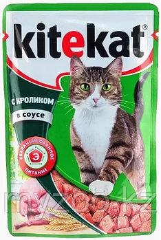 Влажный корм для взрослых кошек  Китекат пауч кролик в соусе 1*85 гр
