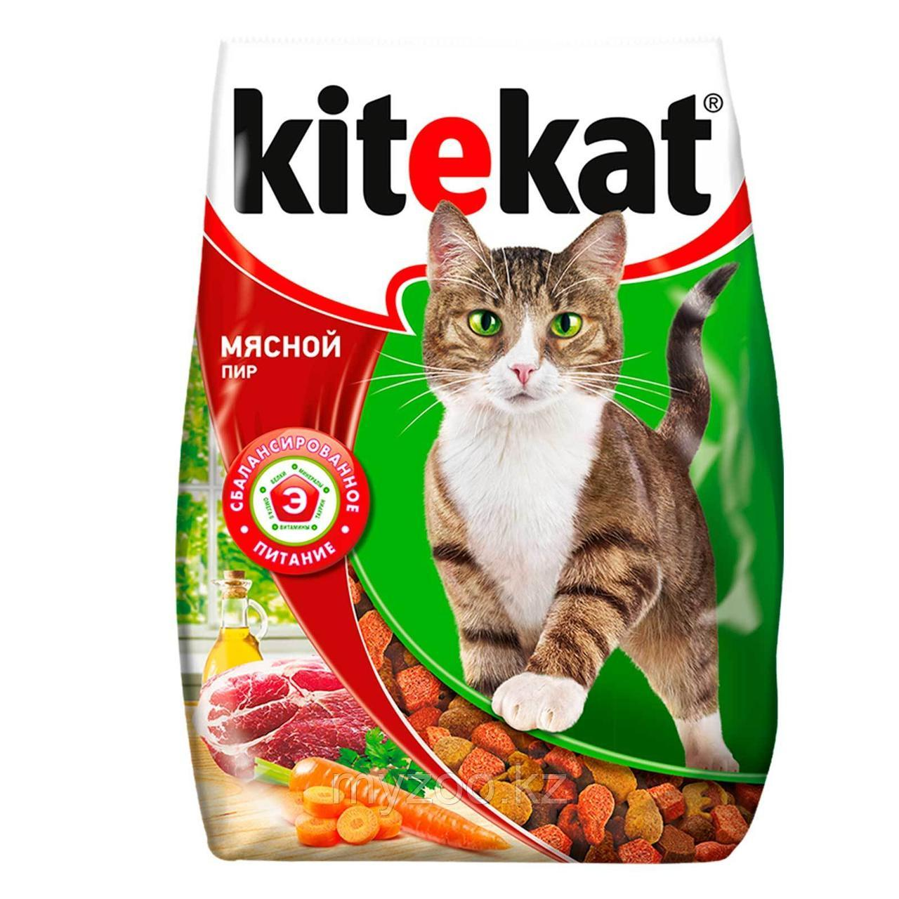 Сухой корм для взрослых кошек Китекат мясной пир 350 гр