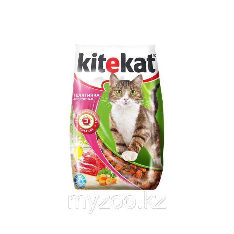 Сухой корм для взрослых кошек Китекат телятинка аппетитная 350 гр