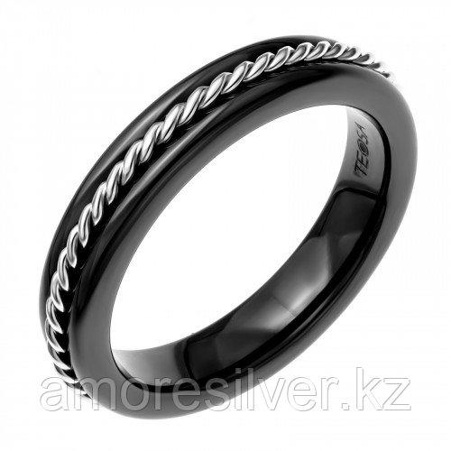 "Кольцо Teosa серебро с родием, керамика, ""линии"" CS-1167-B"
