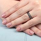 "Кольцо Teosa серебро с родием, керамика, ""линии"" CS-1167-B, фото 2"