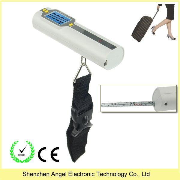 Весы дорожные для багажа электронные с рулеткой