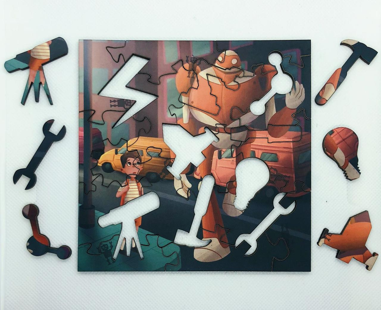 """Набор пазлов """" Тим и Робот Айбо"""" - фото 3"""