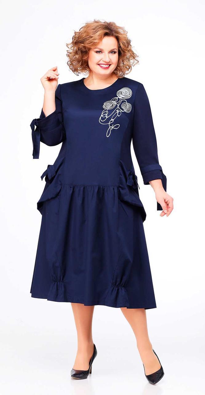 Платье Асолия-2446, темно-синий, 54