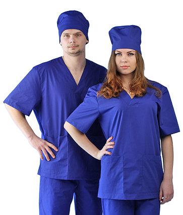 Костюм Хирургический (универсальный) васильковый в Алматы, фото 2