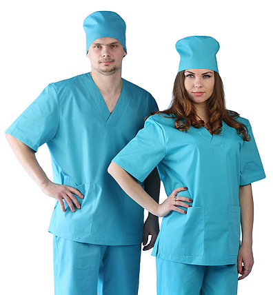 Костюм Хирургический (универсальный) бирюзовый в Алматы, фото 2