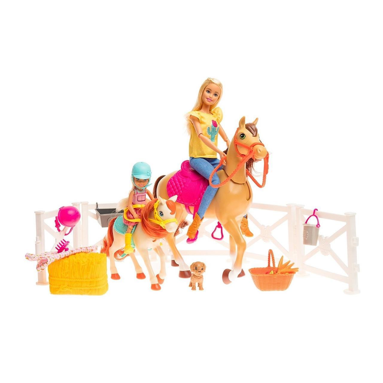 """Barbie Игровой набор """"Конюшня"""", Барби, Челси и любимые лошадки"""