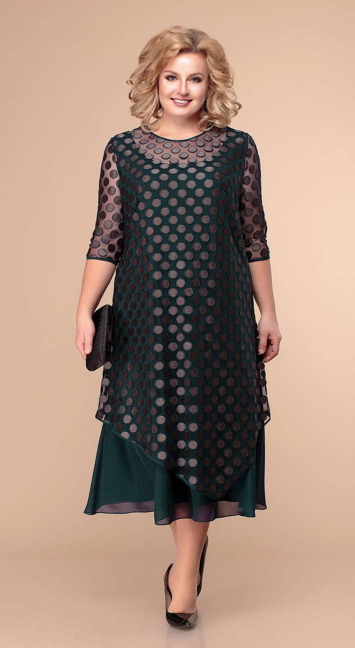 Платье Romanovich-1-1865, тёмно-зелёный, 62