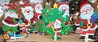 Декоративные фигуры Деда Мороза новогодние, украшения на Новый Год, декор