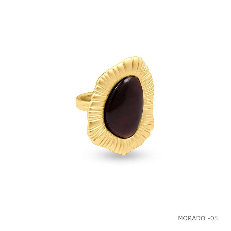 Кольцо / Botanic ( ORO 538- винный )размер 17,5