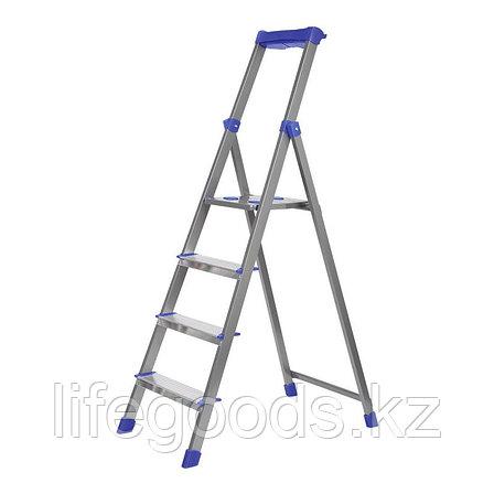 Лестница - стремянка алюминиевая комбинированная 4 ступени Ника СКА4, фото 2