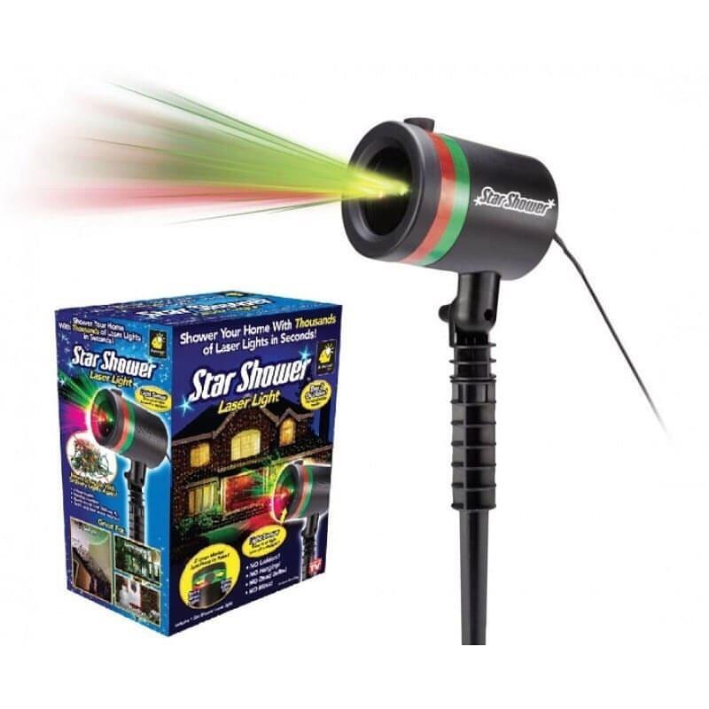 Мощный Лазерный проектор STAR SHOWER Laser Light праздничное освещение